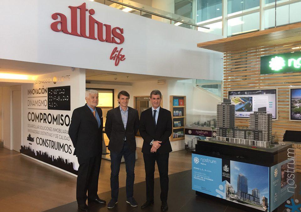 Altius Life recibe a los Arq. Carlos Ott y Carlos Ponce de León